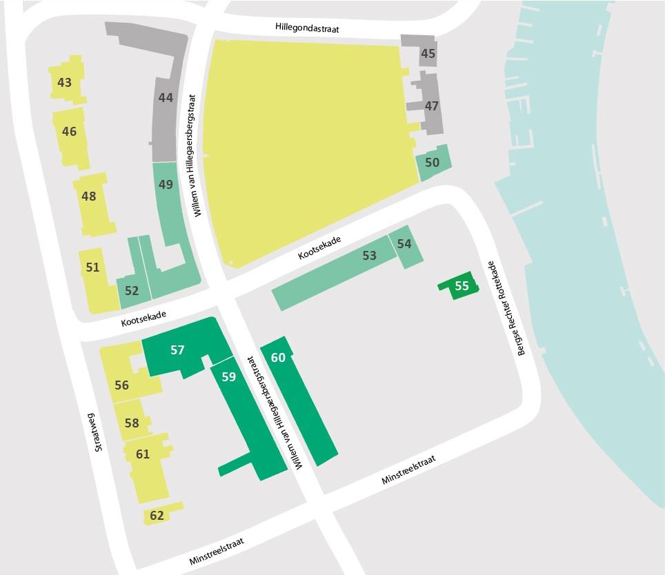 Plattegrond 2 Blok 43 tm 62